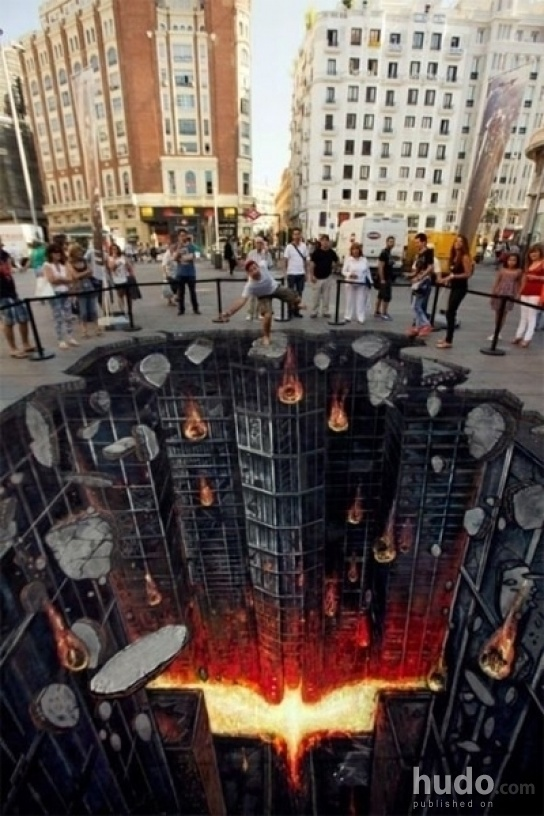 WARNING: Amazing 3D art on the floor