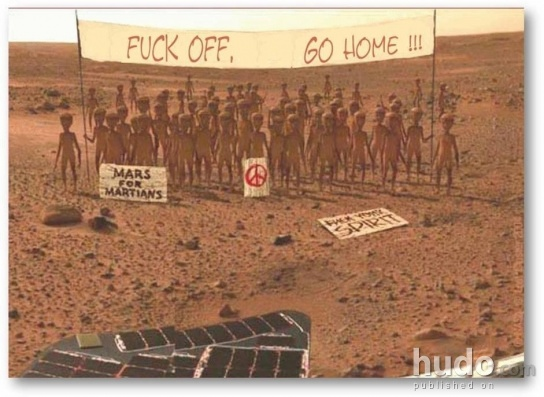 First photos taken after landing on Mars