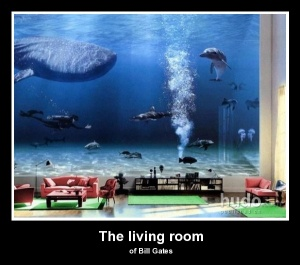 The Gallery For Bill Gates Living Room Whale