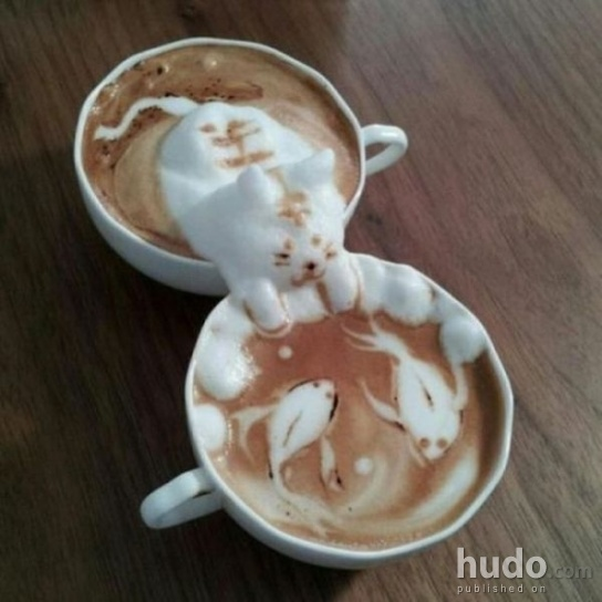 It would be a pity to drink a coffee like this