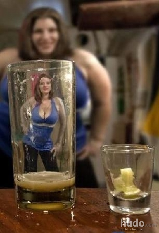 Alcohol can confuse your vision