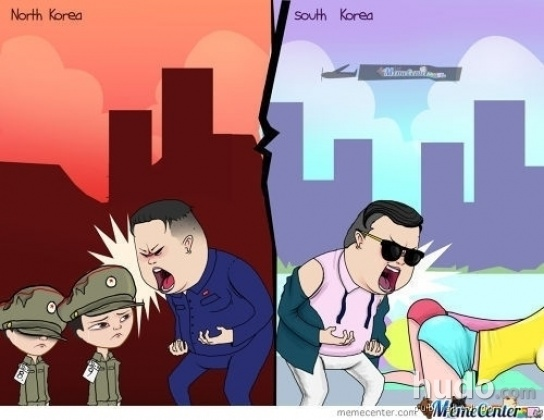 The difference between the Koreas