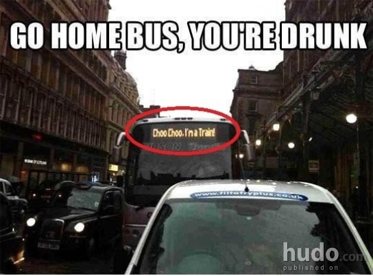 This is what happens when the bus driver is drunk