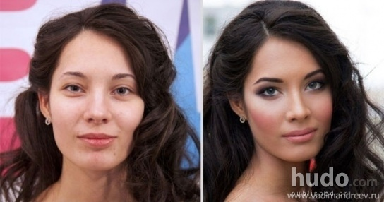 On which picture is she more beautiful?